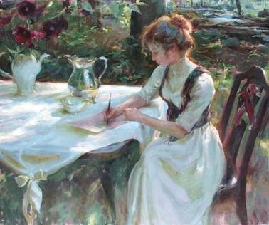 painting-of-woman-writing