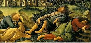 sleeping disciples